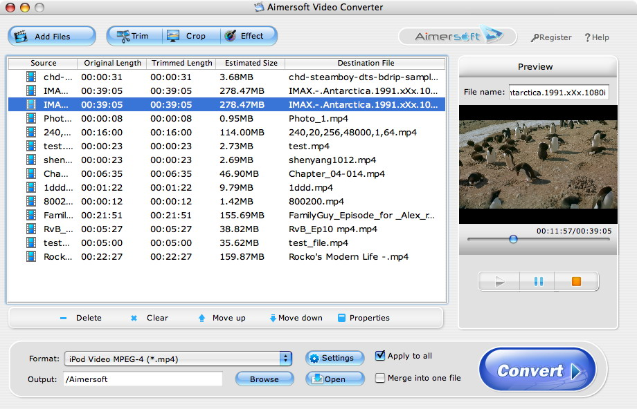 The best Video Converter for Mac OS X