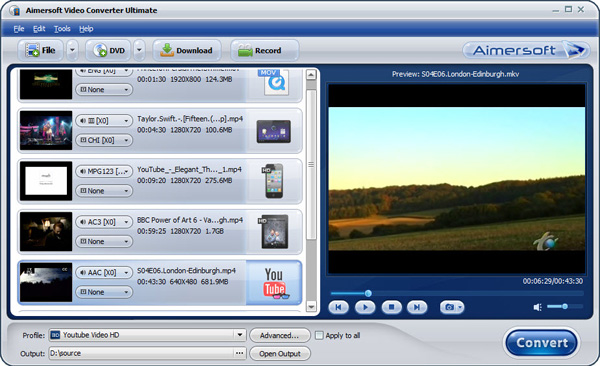 aimersoft video converter ultimate add
